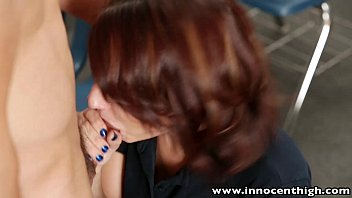 InnocentHigh Young innocent brunette student tempted to bang her horny teacher
