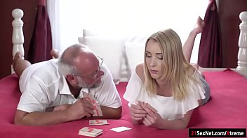 Strippoker sex Koko amaris plays strippoker with old guy and sucks him off