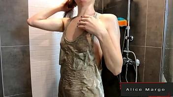 Tattooed BLonde Masturbate in The Shower! AliceMargo.com