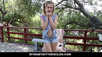 MyBabySittersClub - Petite Baby Sitter (Rachel James) Caught Masturbating