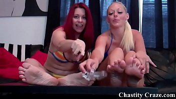 You are going to lick your chastity device clean