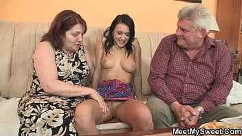 Parents left alone fucking - He leaves and parents seduce his gf