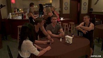 Naughty Sluts get Fucked by Three Guys in a Bar  HD Porn 7e