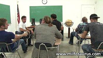 MILF professor fucks her students 12 min