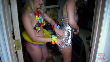 GIRLS GONE WILD - Lesbians Having Fun During A Crazy Costume Party thumbnail