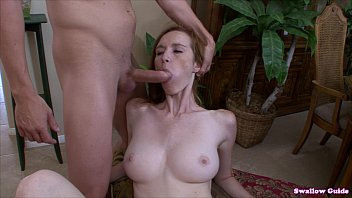 Free swallow sperm Dee dee lynn gives head and guzzles man chowder