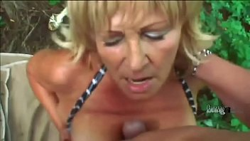 Chubby grandma screwed in her tight asshole