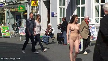 Damjana - Crazy tattooed girl naked in public streets