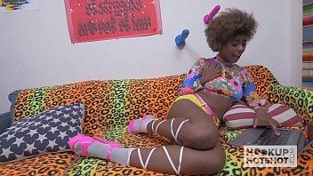Sexy Black Teen Fucked Rough on Hookup Hotshot 13 min