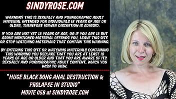 Huge black dong anal destruction & prolapse in studio thumbnail