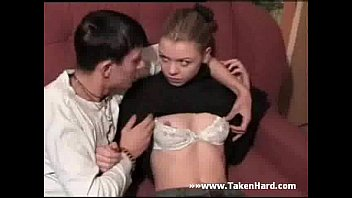 Hot russian teen fucked on couch