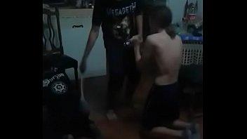 3 blackmetalheads gays guys in a satanic orgy