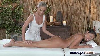 Massage Rooms Hot Filipino lesbian stunner enjoys an intense orgasm thumbnail