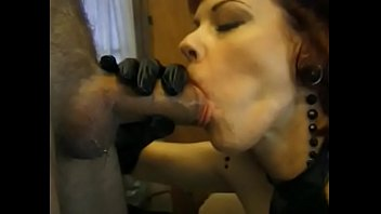 Cute red head mature woman loves to suck giant cock before fucking until squirt
