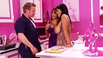Horny MILFs Jasmine Black And Valery Summers Bang The Plumber Thumb