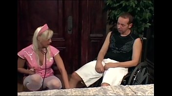 Busty nurse uniform - Nurse nikki fucking a gimp in boots and stockings