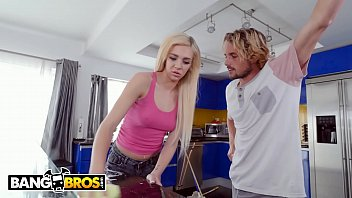 Bangbros - Teen Tiffany Watson Squirts On Her Step Brother's Cock After Cleaning The Floor
