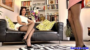 Two british matures in lingerie dyke fun