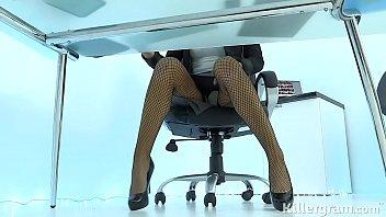 Sexy Milf Jasmine Jae plays the office slut addicted to hard cock 8 min