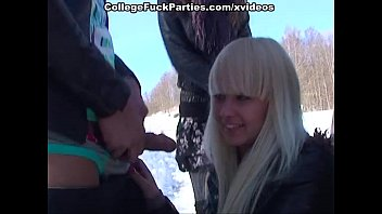double vaginal penetration xxx Partying girls in sucking and sexy college fucking on snow