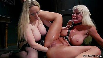 Lesbian ass fist Busty mistress anal fist blonde milf