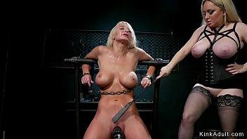 Busty mistress anal fist blonde Milf thumbnail
