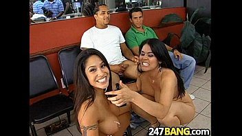 Barbershop Orgy with Olivia O'Lovely, Jenaveve Jolie & Lacey Duvalle.11