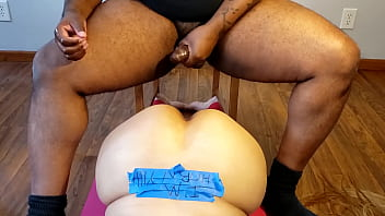 Fucking my racist boss wife doggy style in her ass