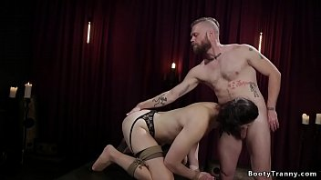 Bdsm transvestites - Tied ts in stockings is anal banged
