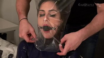 Asian bag breath play porn - Latex straightjacket breathplay