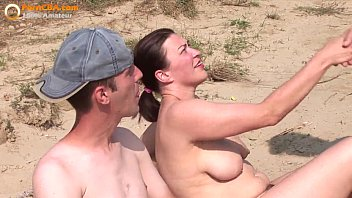 Real amateur threesome fuck fucking beach