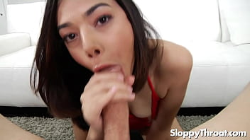 Pretty Harmony Wonder chokes on a dick