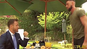 MENATPLAY Suited Men Logan Moore And Massimo Piano Anal Bang
