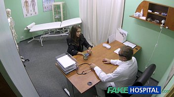 FakeHospital Hot girl with big tits gets doctors treatment before squirting thumbnail
