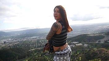 felicity feline anal butt plug and blow job outdoors