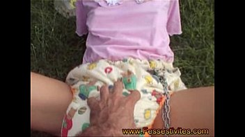She was caught doing self bondage - Abdl diaper lover self bondage
