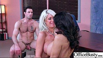 Office Big Tits Girl (Ava Addams & Riley Jenner) Realy Love Hard Baning clip-04