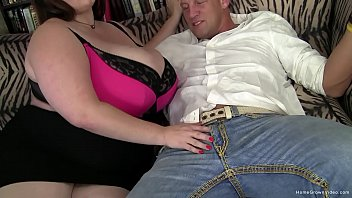 Amateur BBW with gigantic boobs gets fucked hard