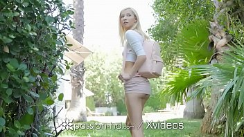 PASSION-HD Naked Neighbor Invites Big Dick Between Her Legs