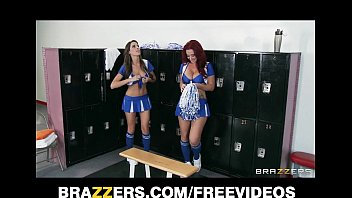 Lesbian shower orgy cheerleader - Two hot lesbian cheerleaders start an orgy in the locker room