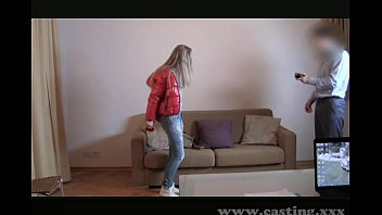 Casting Hot blonde with amazing body 8 min