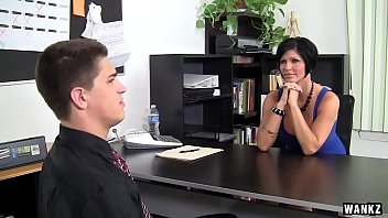 Milf fucking boss in the office Wankz- busty milf boss fucked over her own desk