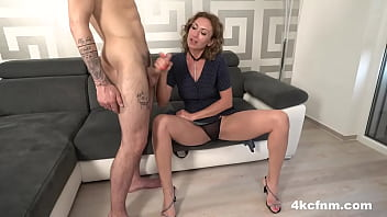 Nasty Nadia Tastes Cum Fully Clothed