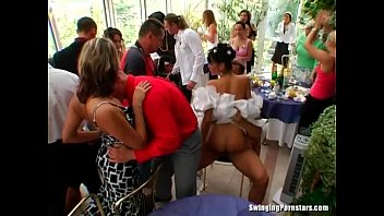 Public fuck at party - Elegant bitches take dicks at a wedding