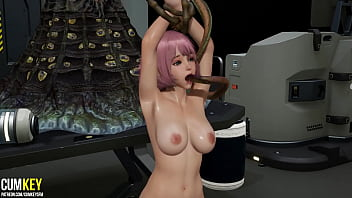 Tentacles Fuck Curvy Bitch in the Laboratory| 3D Porn Hentai | Fallen Doll