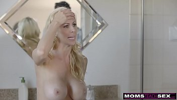 Mom cums son He fucks cheating milf, then girlfriend and cums twice s5:e10