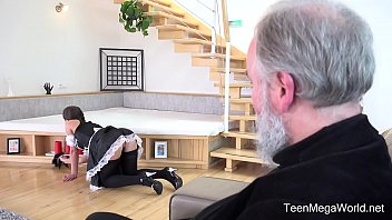 Old-n-Young.com - Lita Phoenix - Sexy maid serves old man porn image
