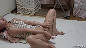 Nonoka Saki Orgasm Masturbating with Dildo