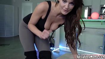 Hot Italian MILF stepmother Becky Bandini POV fucc