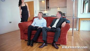 Private.com - Dpd Brunette  Loren Minard Gets 2 Cocks In All Her Holes